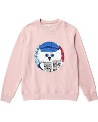 Beyond Closet - Parisiense Dog Patch Sweat Shirt Indi Pink - Lyst