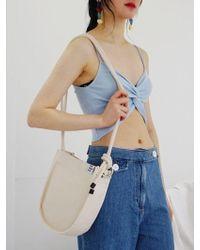 FUNFROMFUN - Knots Point Canvas Mini Bag Ivory - Lyst