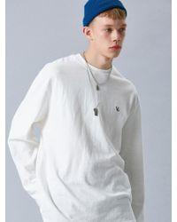 VOIEBIT - V346 Les Logo 10s Long-sleeve_white - Lyst