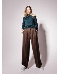 NOHANT - New Classic Wide Leg Trousers Brown - Lyst