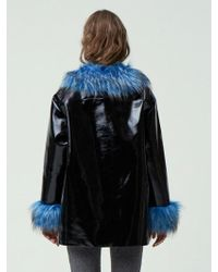 Fleamadonna - Fur Trimming Patent Coat - Lyst