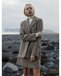 W Concept - Tailored Check Blazer - Lyst