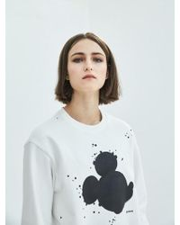COLLABOTORY - [unisex] Artist Mickey Mouse Sweatshirt In Ivory - Lyst