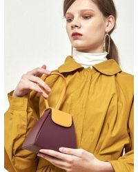 Atelier Park - Color Block Handle Bag Purple - Lyst