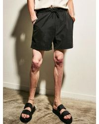 YAN13 - Comfortable Banding Trousers Black - Lyst