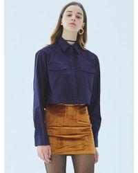 MIGNONNEUF - Neuf Velvet Skirt Mocha - Lyst