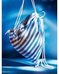 UNDER82 - Shinning Drawstring Bag Blue - Lyst