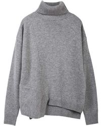 MADGOAT - Cut-out Cashmere Turtleneck_grey - Lyst