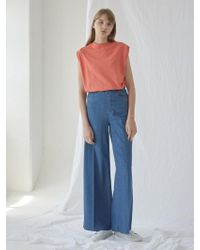 NILBY P - Vintage Denim Wide Pants - Lyst