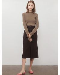 among - A Wool Tuck Sk Brown - Lyst