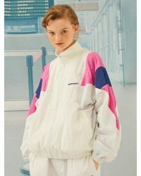 ANOTHER A - Zipup Track Jacket White - Lyst