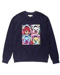 Beyond Closet - Pop Art Dog Patch Sweat Shirt Navy - Lyst