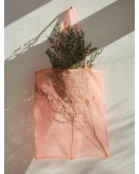 bpb - Peach Organza Ecobag - Lyst