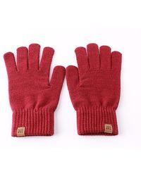 W Concept - Og Label Glove V2 - Red - Lyst