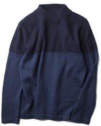 Still By Hand - 2 Tone Pullover Knit Navy - Lyst