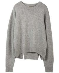 MADGOAT - Back Slit Cashmere Cropped Knit_grey - Lyst