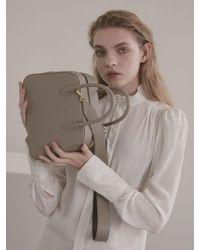 DEMERIEL - City Bag Beige Medium - Lyst