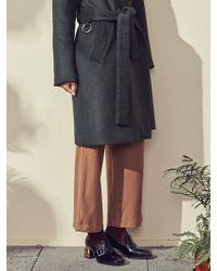 Blank - Wool Wide Slacks Beige - Lyst