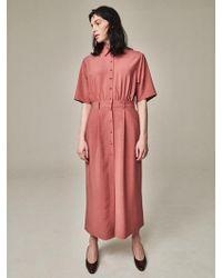 Bouton - Painter Dress Marsala - Lyst