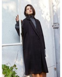 YAN13 - One Button Over Coat Black - Lyst
