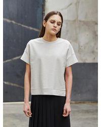 COLLABOTORY - Cropped Summer Sweatshirt - Lyst