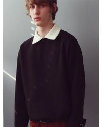 ANOUTFIT - [unisex] Cuffs Napping Polar Sweatshirt_black - Lyst