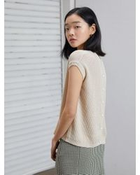594ce295fbe15 Lyst - Calvin Klein Ivory Small S Ribbed Mock Neck Sweater Vest in White