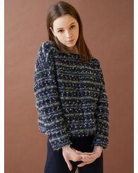 MILLOGREM - Comma Tweed Wool Pullover - Lyst