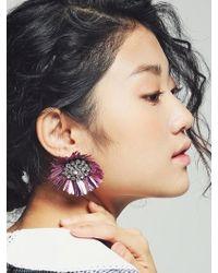 VON DITOLE - Mirabo Vintage Sequin Flower Earrings-taffy Pink - Lyst