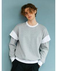 BONNIE&BLANCHE - Layered Over Sweatshirt Gray - Lyst