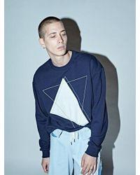 DBSW - [unisex] Triangles Patch Sweatshirts Navy - Lyst