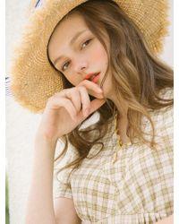W Concept - Honey Check Dress_yellow - Lyst
