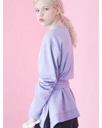 Fleamadonna - 17ss Belted Sweatshirt - Lyst