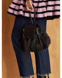 Atelier Park - Color Handle Fur Bag_black - Lyst