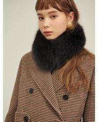 W Concept - Fox Fur Muffler 2colors - Lyst