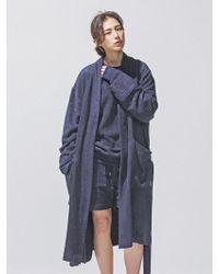 Lyst - Frizmworks  unisex  Bamboo Yarn Long Robe Black in Black 5d63eb554
