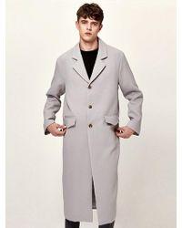 LIUNICK - Britain Single Coat_gray - Lyst
