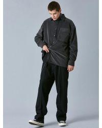 VOIEBIT - V444 Cubic Corduroy Shirt_charcoal - Lyst
