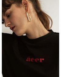 AEER - Logo Cotton T-shirts Black - Lyst