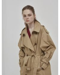 NUISSUE - Oversize Trench Coat_beige - Lyst