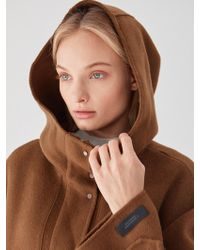 PLOT - Hood Zip Up Cashmere Wool Brown - Lyst