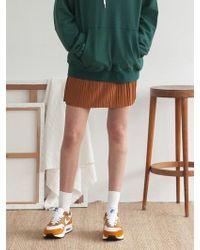 TARGETTO - Banding Flare Mini Skirt Camel - Lyst