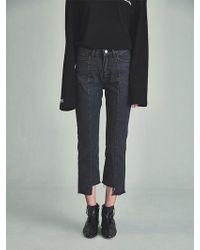 13Month - Vg Damage Cutting Jeans Black - Lyst