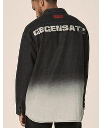 OVERR - 17fw Washing Black Denim Shirts - Lyst