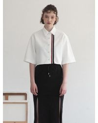 TARGETTO - Line Tape Shirt White - Lyst