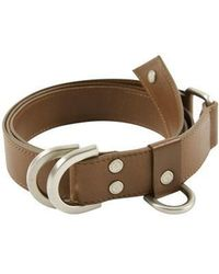 W Concept - Boy Leather D Ring Belt Aaa082m Brown - Lyst