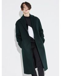 BONNIE&BLANCHE - Minimal Long Coat_dark Green - Lyst