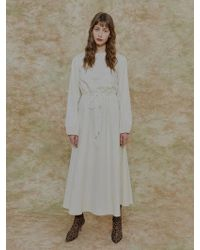 among - String Dress Ivory - Lyst
