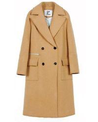 Clue de Clare - Stitch Double Coat Beige - Lyst