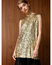 THE ASHLYNN - Angie Sequined Back Bow Midi Dress - Lyst